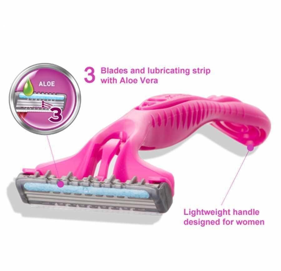 Wilkinson Extra 3 Beauty - Oynar Başlıklı Kullan At Tıraş Bıçağı 4'lü Paket Toptan - Koli İçi: 20 Adet (7,44 TL Adet Fiyatı)